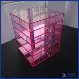 Hete Organisator 5 van de Make-up van de Luxe van de Verkoop Roze AcrylLade