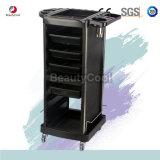 Caja de acero pesado Salón de belleza Carro de carretilla de plástico rodante con 4 cajones