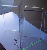 Tableau dinant en verre moderne de cru premier avec la base de lucite du duel V