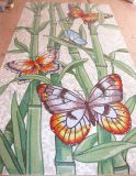 背景の壁のタイル、クリスタルグラスのモザイク模様の芸術のモザイク(HMP673)