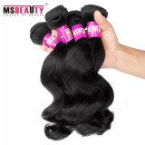 Cabelo humano indiano cru de Remy 100% do Virgin do cabelo para o cabelo natural