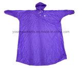 Polyester/PVC взрослого делают водостотьким & Windproof плащпалата дождя с клобуком