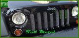 acier inoxydable de déflecteur d'insecte de gril de la maille 3D pour le Wrangler Jk de jeep