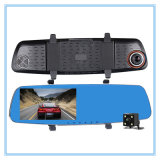 Автомобиль DVR объектива фотоаппарата Dashcam видеозаписывающего устройства 5.0 дюймов автоматический автомобильный двойной