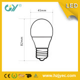 3000k G45 4W E27 lámpara del bulbo del LED con CE RoHS