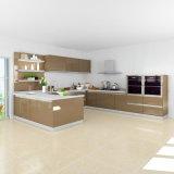ホームデザイン光沢度の高いラッカー木の台所単位のキャビネット