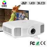 Cre X8000 1920*1280 2k 3LCD 3D WiFi完全なHDのプロジェクター