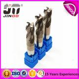 Herramientas sólidas de 3/4 de las flautas del carburo del desbaste de extremo del molino de carburo CNC de la herramienta