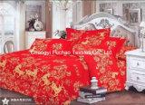 Conjunto polivinílico/del algodón impreso de rey Fitted de Bedspread Patchwork Bedding