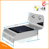 indicatore luminoso solare chiaro solare esterno solare del giardino dell'indicatore luminoso LED del sensore di movimento di 100lm 16 LED