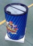 Refrigerador redondo del partido de la cerveza del refrigerador eléctrico del barril con la tapa de cristal para el partido de Ouside