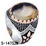 Silberner Mann-Ring der neuen Modell-925 mit Yemen-Stein