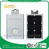 luz de rua solar Integrated do diodo emissor de luz 12W para o sistema de iluminação do lote de estacionamento da cidade