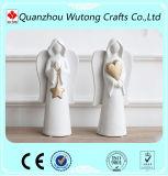 عادة راتينج قلب ملاك يسكن تماثيل زخرفة ملاك تمثال صغير