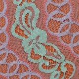 Doppio tessuto del merletto di colori del Crochet con i tessuti del ricamo del filetto