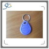 Étiquette de Keyfob d'IDENTIFICATION RF de proximité de Tk4100 125kHz avec le porte-clés