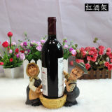 Het Rek van de Wijn van de Houder van de Wijn van de Vorm van de landbouwer voor het Decor van het Huis