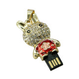 Lecteur flash USB de bijou de mémoire de flash USB de Pendrive de nounours de dessin animé