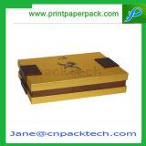 Коробка изготовленный на заказ подарка ювелирных изделий вычуры бумаги с покрытием упаковывая
