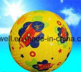 Bille de cour de jeu en caoutchouc gonflable extérieure d'enfants multicolores de qualité