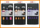 Herramientas del maquillaje 3 4 5 cepillos profesionales del maquillaje Sythetic de las técnicas verdaderas de aluminio determinadas del PCS