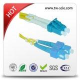 LC/Sc/FC/St/Mu/MTRJ/E2000 PC/Upc/APC Singlemode Mehrmodensimplexduplexfaser-Optiksteckschnür