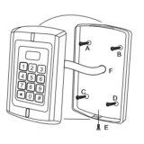 キーパッドデザイン近さの読取装置(とSR3-KM (MIFARE)防水) MIFARE/IC