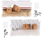 Wine Cork USB Flash Drive, Wine Stopper U-Disk Gravação a laser Professioal Wedding Gift 4GB 8GB USB