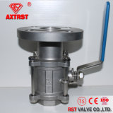 amorçage 3PC/robinet à tournant sphérique à flasque d'acier inoxydable