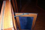 Finestra di legno della stoffa per tendine di stile dell'America con il vetro di effetto di uragano