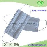 Грипп Ly сопротивляет маске медицинских лицевых щитков гермошлема 2ply/3ply SMS хирургической