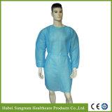 Wegwerf-pp.-nichtgewebtes blaues Lokalisierungs-Kleid mit gestrickten Stulpen