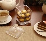 Alto rectángulo de acrílico transparente hermoso del té