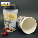 doppel-wandiges gezeichnete Papierkaffeetasse des Cup-12oz PET