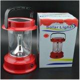 Lanterna de acampamento recarregável solar portátil do diodo emissor de luz com Multifunctions
