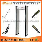 De enige Gang van de Detector van het Metaal van de Streek door de Detector van het Metaal van het Frame van de Deur