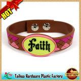 Bracelet en silicone personnalisé avec boutons en plastique ou bouton de décoration de boutons en silicone