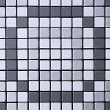 Mosaico de alumínio autoadesivo do metal da prata do triângulo da telha de Backsplash da casca e da vara de Royllent com a telha decorativa da parede de vidro do diamante