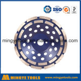 Двойник гребет колеса чашки диаманта для бетона