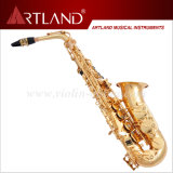 Eb Key Golden Lacquer Finish Saxophone Alto Professionnel (AAS6506G)