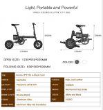 Motocicleta elétrica de dobramento da E-Bicicleta da liga de alumínio (IDEWALK F1)