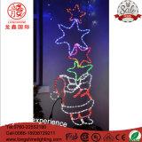 STERN-Weihnachtsseil-Dekoration-Licht LED-im Freien beleuchtendes Weihnachtsmann Mehrfarben