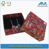 Dekoratives handgemachtes kundenspezifisches Firmenzeichen gedruckter Papierschmucksache-Geschenk-Kasten, Ring-Kasten, Halsketten-Kasten