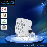 Drahtloser DMX batteriebetriebener LED batteriebetriebener LED flacher NENNWERT DES NENNWERT-9PCS 15W RGBWA für Weihnachten