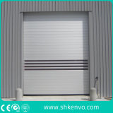 Двери штарки завальцовки промышленного легирующего металла пакгауза алюминиевого надземные