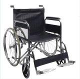 Ce& ISOのクロム染料で染められたフレームが付いている病院の家具の手動鋼鉄折る車椅子