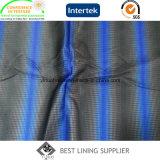 Fabricante impreso base de China de la tela de la guarnición del trazador de líneas de la tela cruzada del poliester 260t