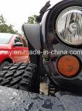 2007-2015 la defensa de acero del Wrangler del jeep de la venta superior señala por medio de luces para el jeep