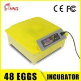 La volaille complètement automatique d'oeufs en gros des avoirs 48 de Hhd de promotion de jour national Egg l'incubateur et hacher la FCC de la CE de machine réussie