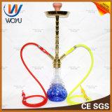 Woyu Ling는 유리제 Hookah를 가진 아연 합금 그리고 물 연관 LED 램프를 가진 수관이다
